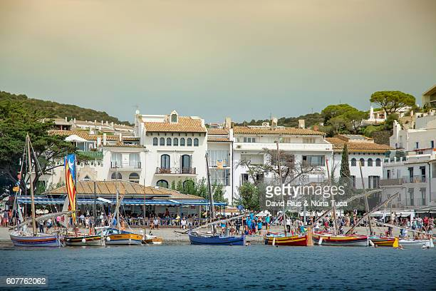 Traditional boats in Cadaqués, Catalonia