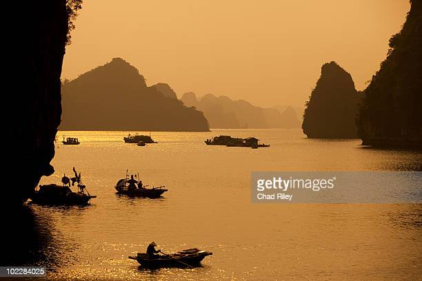Traditional boats in Halong Bay, Vietnam