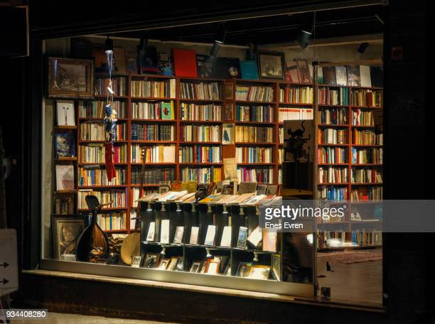 traditional book store in istanbul - book store stock photos and pictures