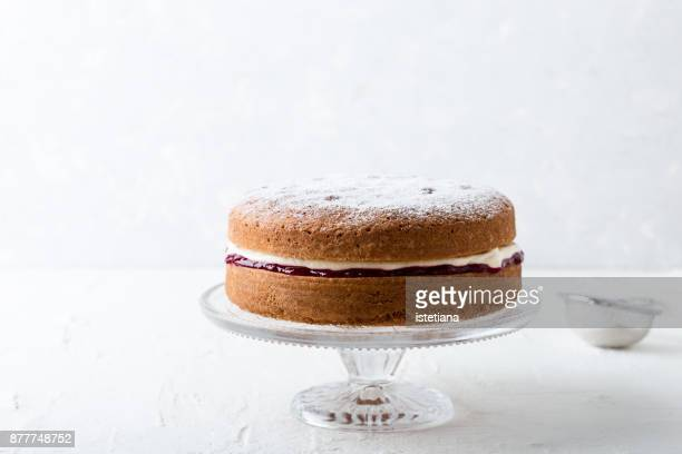 Traditional British Dishes. Classic Victoria sandwich