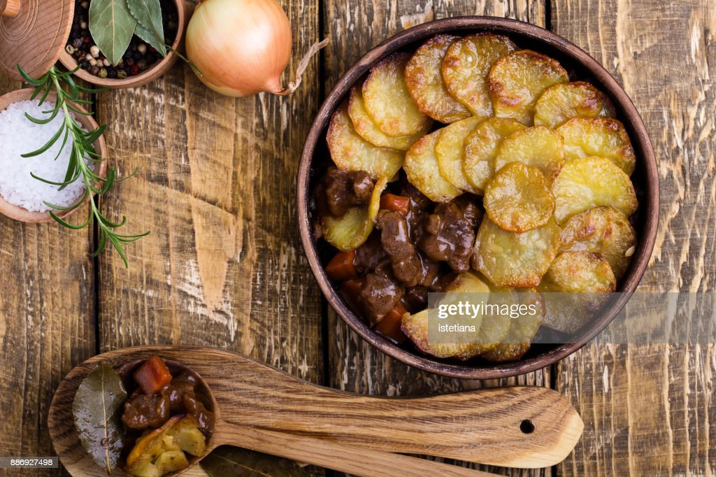 Traditional British Dishes, Lancashire hotpot : Stock Photo