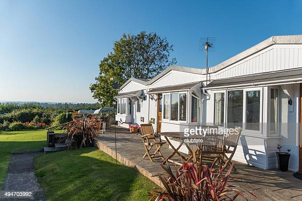 Traditional British holiday chalets