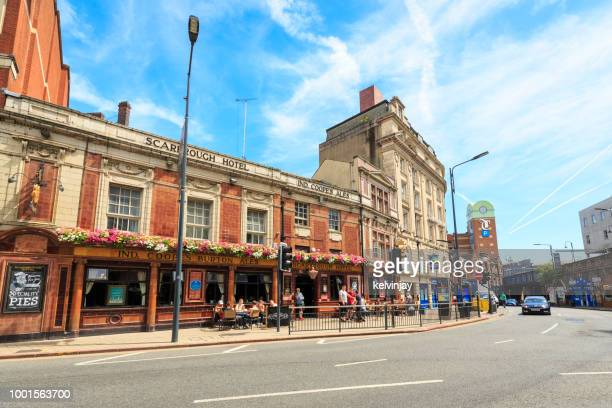 Traditional British pub in the centre of Leeds, West Yorkshire
