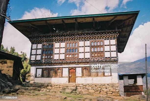 Traditional building Paro Bhutan 2004