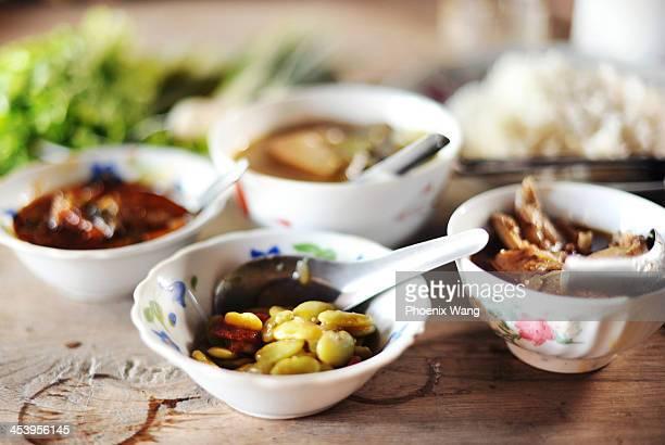 Traditional Burmese food