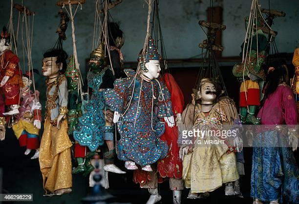 Traditional Burmese puppet made in Pagan Myanmar