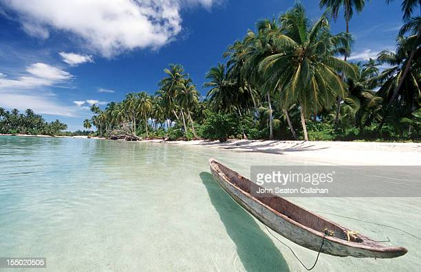 Traditional canoe on beach
