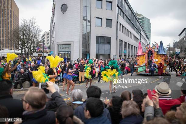 Traditional Carnaval in Lampegat Eindhoven in The Netherlands Saturday March 2 2019 the carnival parade and children's carnival parade travels...