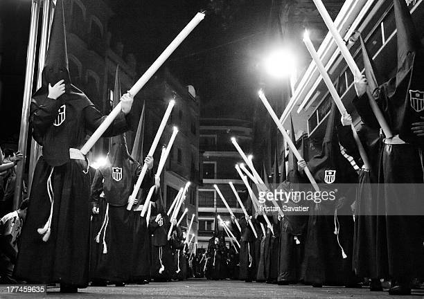 Traditional Catholic processions during the Semana Santa in Sevilla, Spain.