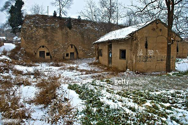 Traditional cave houses in Shaanxi Province China
