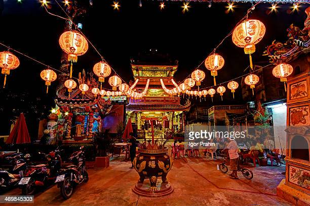 Traditional celebration at Thonburi's <b>Kuan Ou Shrine</b>. The shrine, or godfather's hall&quot; as they are called in Thai, almost certainly dates...
