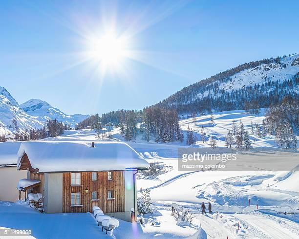 Traditional Chalet In Engadin, Switzerland