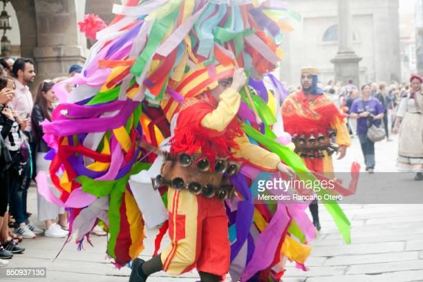 "Traditional character of ""entroido ribeirao"" Carnival, Galicia, Spain."