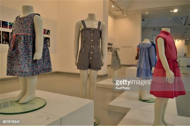 Traditional children's clothes are seen as a part of the 'Dressing A Nation Sumerbank Patterns Between the Years of 19562000' Exhibition in Ankara...