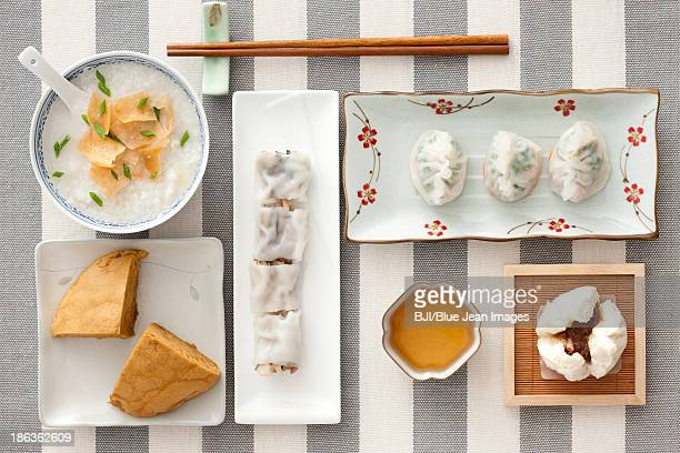 traditional chinese breakfast - congee stock photos and pictures