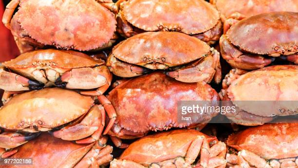 traditional chinese cuisine, dessert, street food, deep fried crab - crab stock photos and pictures