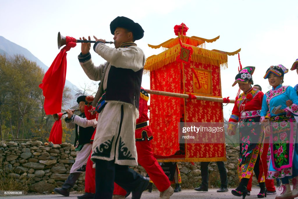 Traditional Chinese culture,sedan chair : Stock Photo