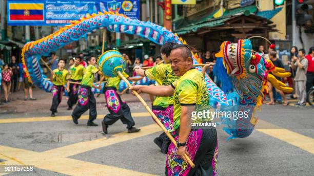 traditional chinese dragon dance - animal representation stock pictures, royalty-free photos & images