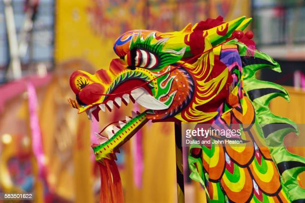 traditional chinese dragon dancing - dragon stock pictures, royalty-free photos & images