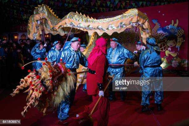 traditional chinese dragon dancing,hangzhou,china - animal representation stock pictures, royalty-free photos & images