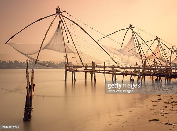 Traditional chinese fishing nets in India