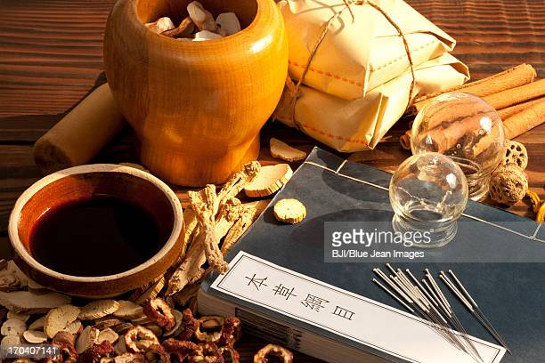 Traditional Chinese herbal medicine therapy with ancient Chinese medical book