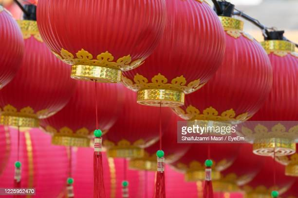 traditional chinese lanterns display during chinese new year festival at thean hou temple - shaifulzamri eyeem ストックフォトと画像