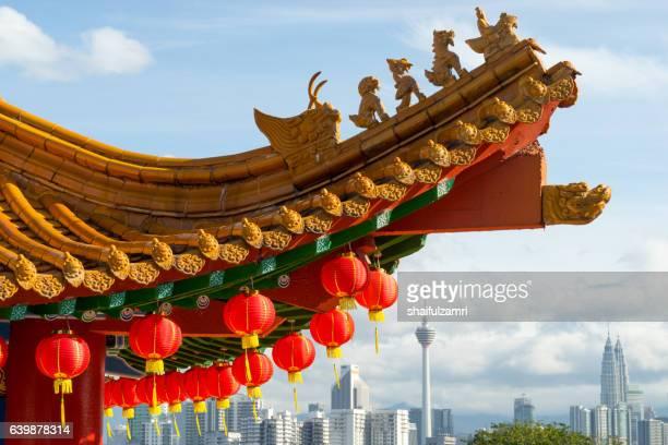 traditional chinese lanterns display during chinese new year festival - shaifulzamri bildbanksfoton och bilder