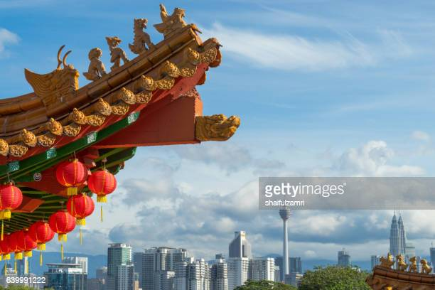 traditional chinese lanterns display during chinese new year festival - shaifulzamri fotografías e imágenes de stock
