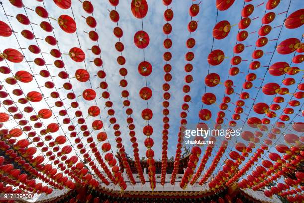 Traditional Chinese lanterns display during Chinese new year festival at Thean Hou Temple in Kuala Lumpur, Malaysia