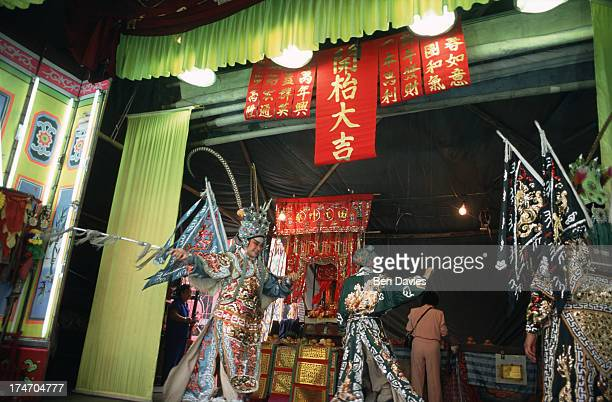 A traditional Chinese play held off Yaowarat Road in Bangkok's busy Chinatown to celebrate the start of Chinese New Year held during the full moon in...