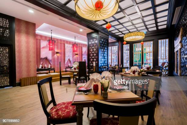 traditional chinese restaurant setting - chinese culture stock pictures, royalty-free photos & images