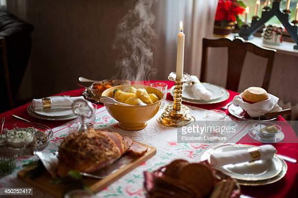 Traditional Christmas dinner