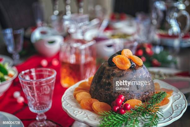 Traditional Christmas Dinner with Roasted Veal Rack