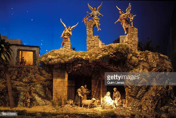 Traditional Christmas Nativity scene in Spain