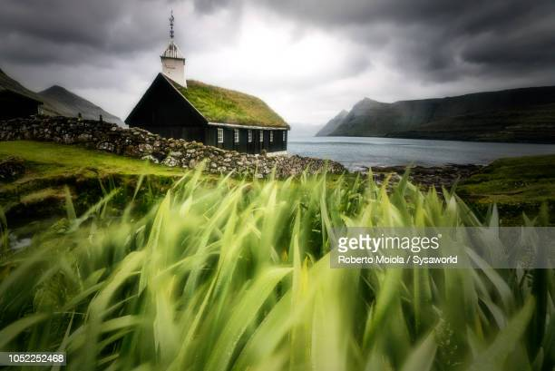 Traditional church, Funningur, Faroe Islands