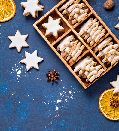 Traditional Cinnamon Star Cookies 1180627302