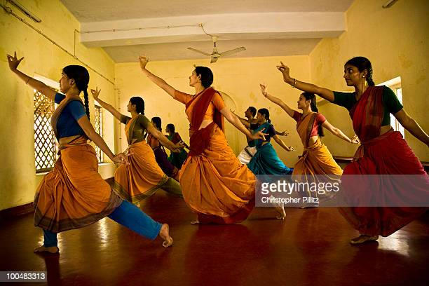 Traditional classical Indian dance lesson