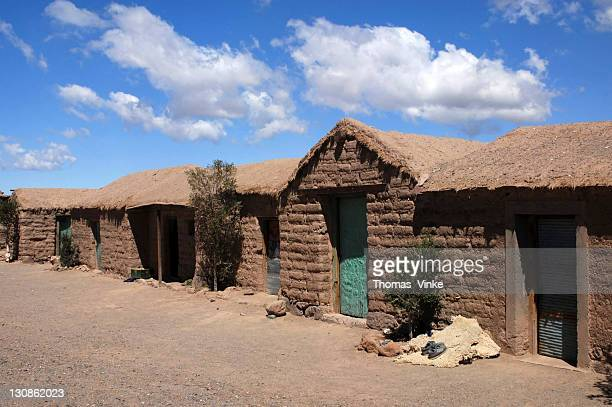 traditional clay brick village cangrejillos in the andes, in the puna, province of salta, andes, argentina, south america - loam stock photos and pictures