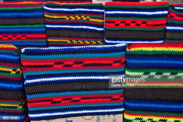 Traditional cloth at market of Mount Hagen, Highlands, Papua New Guinea