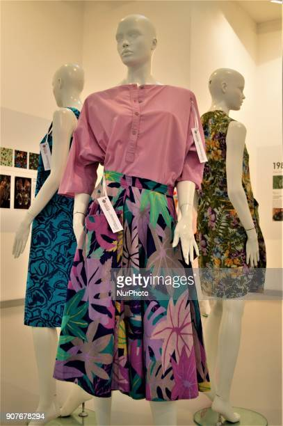 Traditional clothes are seen as a part of the 'Dressing A Nation Sumerbank Patterns Between the Years of 19562000' Exhibition in Ankara Turkey on...