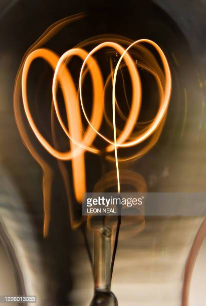 Traditional coiled filament bulb is pictured in an electrical store, in central London, on August 27, 2009. Old-style 100-watt light bulbs will be...