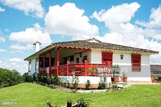 Traditional Colombian farm house, Spanish style