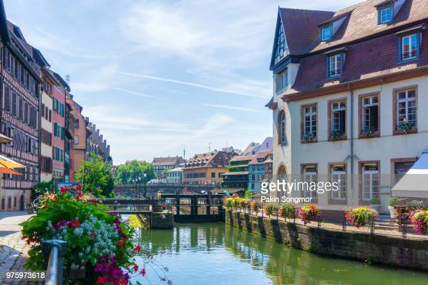 traditional colorful houses in la petite france, strasbourg - golf tournament stock pictures, royalty-free photos & images