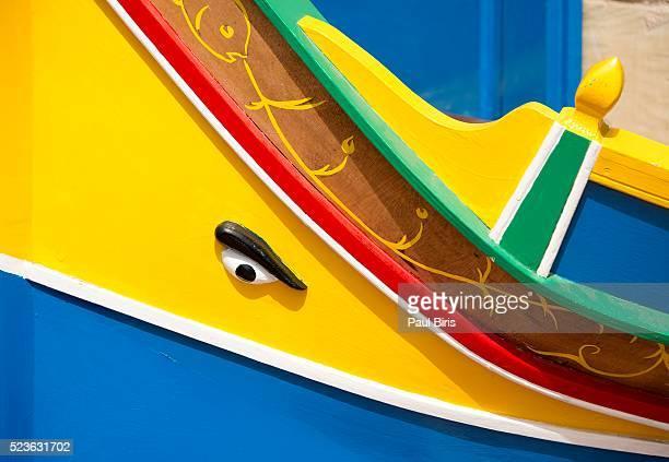 Traditional colourful boat, Marsaxlokk, Malta