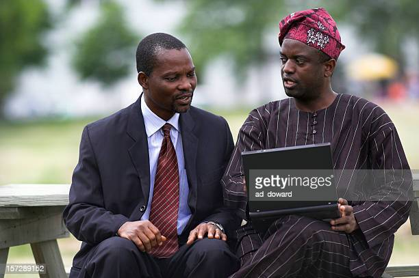 traditional computing ? - nigeria stock pictures, royalty-free photos & images