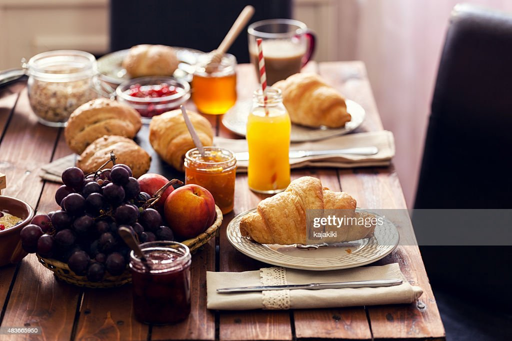 Traditional Continental Breakfast : Stock Photo