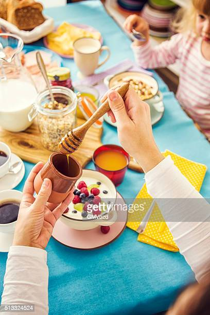 Traditional Continental Breakfast Served on a Table