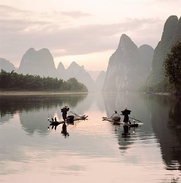 traditional cormorant fishermen on Li river