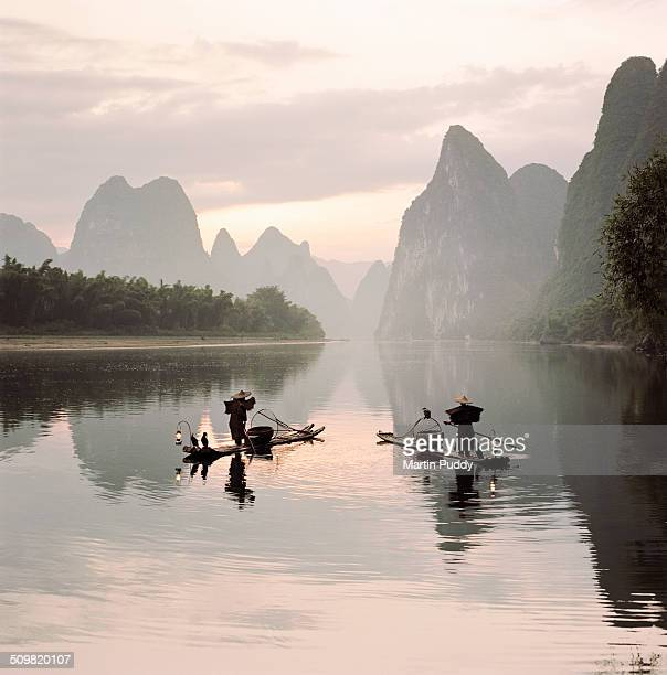 traditional cormorant fishermen on Li river
